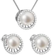 Súprava perlových strieborných šperkov 29034.1