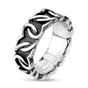 Oceľový prsteň Spikes 3863