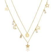Pozlátený náhrdelník s kryštálmi Swarovski Brosway Chant BAH04