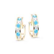 Zlaté detské náušnice krúžky C3343Z-Arctic Blue