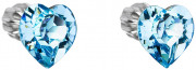 Náušnice kôstky srdiečka 31139.3 Modrá