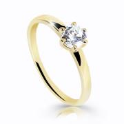 Zlatý prstienok s kamienkom Z6485Y