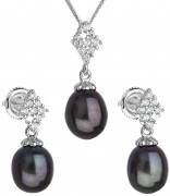 Súprava perlových strieborných šperkov 29018.3