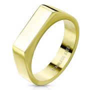 Zlatý pečatný prsteň pre ženy chirurgická oceľ SERM7686G