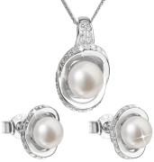 Súprava perlových strieborných šperkov 29026.1