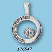 Strieborný prívesok so zirkónmi 176547