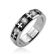 Oceľový prsteň  Spikes 1623