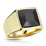 Ocelový pečetní prsten pro muže 7122G