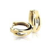 Zlaté naušnice so zirkónmi Cutie Jewellery Z2023Y