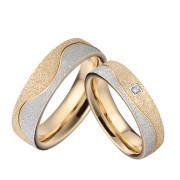 Oceľové snubné prstienky kombinovane SPPL029