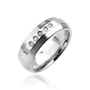 Oceľový prsteň Spikes-6960