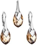 Súprava strieborných šperkov Swarovski elements 39169.4 Zlata