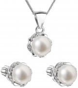 Súprava perlových strieborných šperkov 29009.1