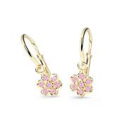 Detské zlate naušnice Cutie Jewellery C2746Z-Pink
