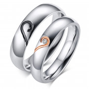 Ocelové snubné prsteny SECR064