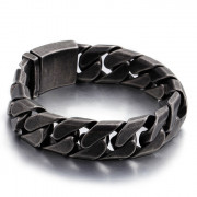 Oceľový náramok pre mužov šedý WJHB335