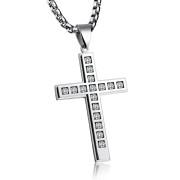 Prívesok na retiazku kríž so zirkónmi JCFGX125S