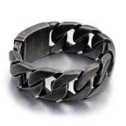 Oceľový náramok pre mužov šedý WJHB332