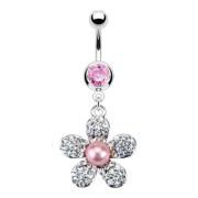 Piercing pupku 12013 - Pink