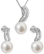 Súprava perlových strieborných šperkov 29037.1