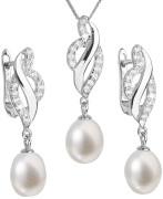 Súprava perlových strieborných šperkov 29021.1