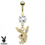 Piercing do pupka Playboy - 002CR