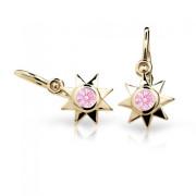 Detske naušnice zlaté C1995Z-Pink