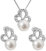 Súprava perlových strieborných šperkov 29010.1