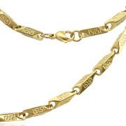 Oceľový náhrdelník zlatý 1386
