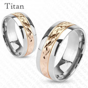 Titánový prsteň Spikes 3700