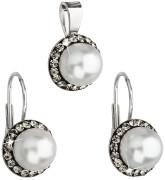 Strieborná súprava šperkov Swarovski elements 39091.3 Bl diamond