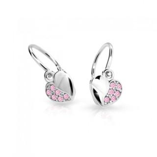 Detské náušnice Cutie Jewellery C2160B-Pink
