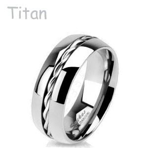 Titánový prsteň Spikes 3656
