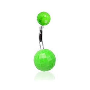 Piercing pupku 023-GREEN