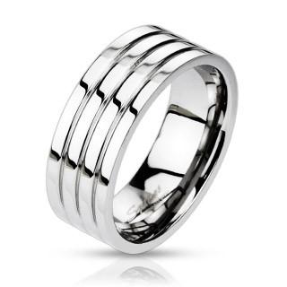 Oceľový prsteň Spikes 0024