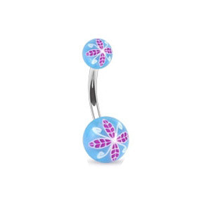 Piercing pupku 1108 - Blue