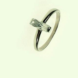 Oceľový prsteň so zirkónom ZR872