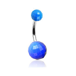 Piercing pupku 023-BLUE