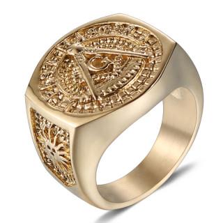 Pečatný prsteň so slobodomurárskymi znakom WJHZ63