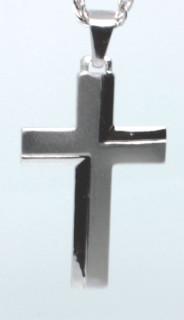 Strieborný prívesok krížik 303371