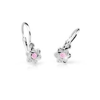 Zlaté detské naušníce Cutie Jewellery C2149B-Pink