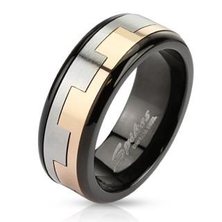 Oceľový prsteň Spikes 2815