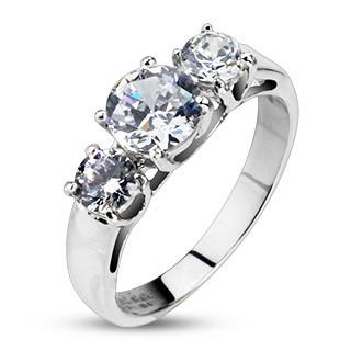 Oceľový prsteň Spikes 2181