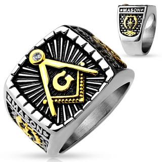 Pánsky pečatný prsteň 4659-Slobodomurári