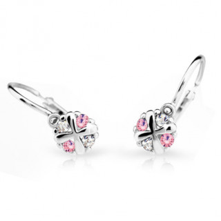 Zlaté detské náušnice Cutie Jewellery C2153B Pink