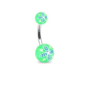Piercing pupku 1108- Green