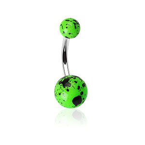 Piercing pupku 012-GREEN