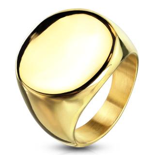 Pánsky oceľový pečatný prsteň 6575G
