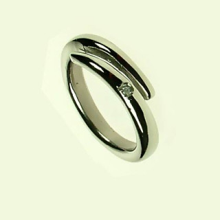 Oceľový prsteň so zirkónom ZR715