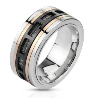 Oceľový prsteň Spikes 2805